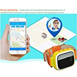 Witmoving Kinder Smart Uhr Watch GPS-Verfolger Armbanduhr SOS Armband mit SIM-Karten Slot für IOS Android Smartphones (Rosa) - 3