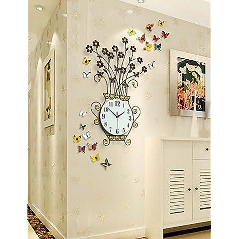 Da Wu Jia wall arte moderna creatività Mute in metallo orologio da parete , oro
