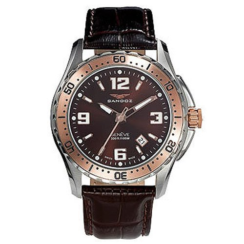 Montre Sandoz The Race 81331-94 Homme Marron