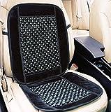 #7: RACKDACK Car Wooden Bead Seat Cushion with Grey Velvet Border for Hyundai i20 Elite