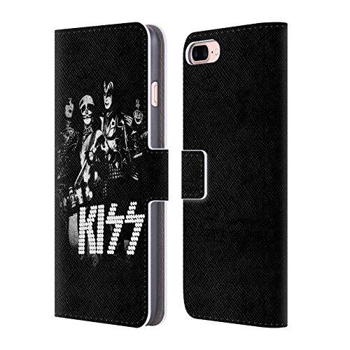 Ufficiale KISS Destroyer Giappone Gruppo Cover a portafoglio in pelle per Apple iPhone 7 Plus / 8 Plus Segnale Luminoso