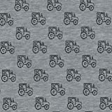 John Louden Patchwork Traktoren Jersey Stoff–Traktoren Grau–Jersey Stoff–jlj02–von 0,5Meter (50cm x 155cm)–65% Baumwolle 30% Polyester 5% Lycra Stretch Jersey Stoff