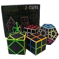 Comparador de precios Speed Cube Puzzle Pack | Cubo de Pyraminx del cubo de Skewb 2X2 3X3, Cubo de Megaminx Cubo sin etiqueta del cubo de Firbe del carbón | Colección de 5 cubos mágicos | Rompecabezas Juguetes Rompecabezas regalos por EasyGame - precios baratos