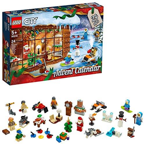 LEGO City - Le Calendrier de l'Avent LEGO City, 5 ans et Plus, Jeu de Construction 234 Pièces - 60235