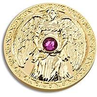 Engeltaler Harmonie Schutzengel Talisman 24kt vergoldet mit Kristall, Ø 27mm, Glücksbringer Glücksmünze Engel preisvergleich bei billige-tabletten.eu