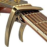 Paracity professionnel Capodastre pour guitare acoustique et guitare électrique?Ultra léger (28,3gram)?pas de rayures, NO Fret Buzz, facile à déplacer?Aussi pour ukulélé, banjo et mandoline bronze