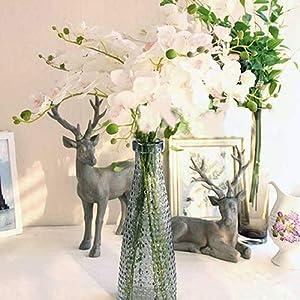 cA0boluoC Flor de Orquídea, Flores Artificiales para Jardín Boda Casa Banquete Decoración (1 Ramas 7 Cabezas) Blue