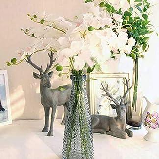 cA0boluoC Flor de Orquídea, Flores Artificiales para Jardín Boda Casa Banquete Decoración (1 Ramas 7 Cabezas)
