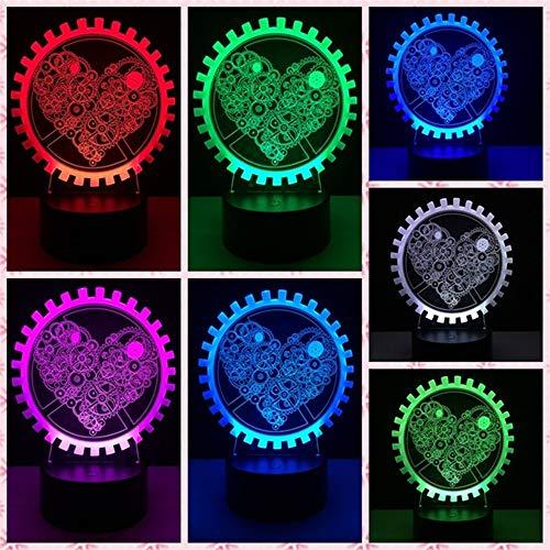Ich Liebe Dich süßer Liebhaber Herz Ballon 3D Led USB Lampe Romantisches Dekor 7 Farbe Glanz Nachtlicht Freundin Geschenk Muttertag Touch One 7 Farbe 7