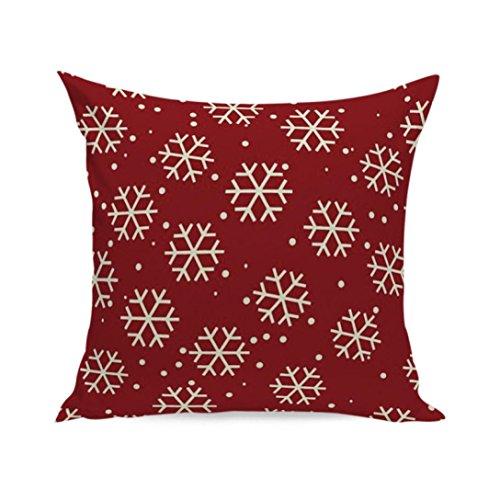 TWIFER Weihnachten Super Soft Square Dekokissen Fall Dekorative Kissen Kissenbezug (F, 45 x 45cm)