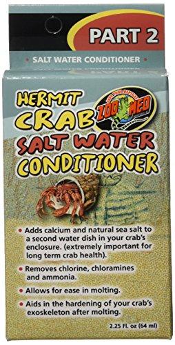 Zoo Med Hermit Crab Salz Wasser Klimaanlage, 2.25-Ounce - Salz-wasser-conditioner