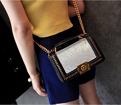 Art Und Weisekettenfrauen Kleiner Beutelkreuzkörper-Handtaschen-Handtaschen-Kreuzkörper-Miniback Silver