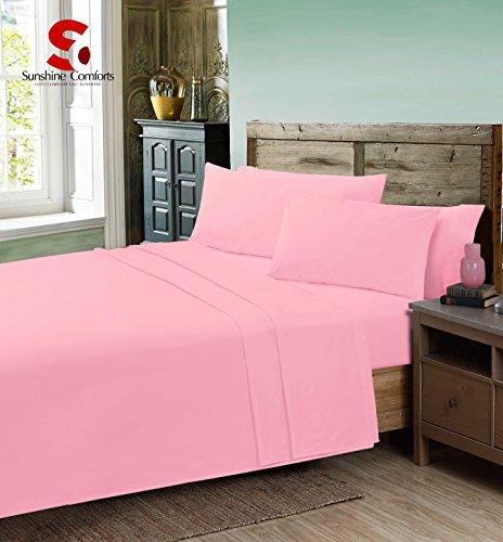Linens World einfachste Pflege Steppdecke Perkal Bezug-Sets mit Kissen: Nicht-Eisen Betten, Rose, King Size (Rose-eisen-bett)
