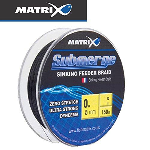 Fox Matrix Submerge Feeder Braid 150m - Reederschnur sinkend zum Feederangeln, Geflochtene Schnur zum Feederfischen, Feeder Schnur, Durchmesser/Tragkraft:0.08mm / 4.95kg Tragkraft