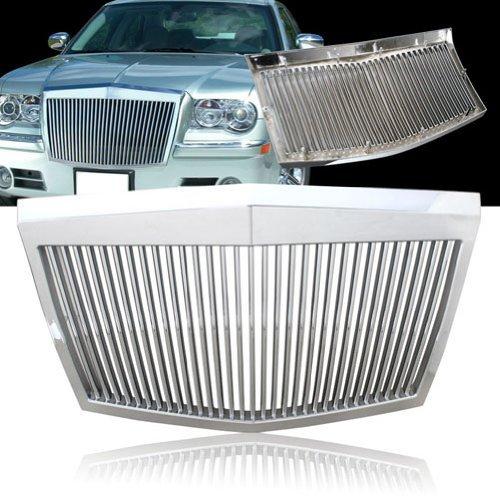 Preisvergleich Produktbild 05–10Chrysler 300/300C Rolls-Royce Stil ABS silber vertikal Grill–Chrom