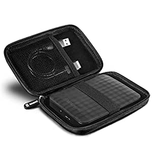Duronic HDC2 Portable Hard Drive Case - EVA Carry Case - Suitable for WD/western digital   Toshiba   Buffalo   Hitachi   Seagate   Samsung   500GB   1TB   2TB   3TB Hard Black Carrying Case