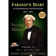 Faraday's Diary of Experimental Investigation