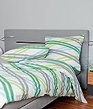 Janine Design Seersucker Bettwäsche Tango 20015-06 Grün 135x200 cm + 80x80 cm