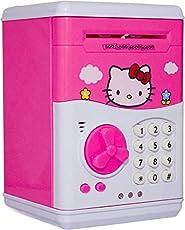 Glorygifts Hello Kitty Piggy Bank Safe Box Money Coin ATM Bank Toy ATM Machine Kids Gift Money Box Digital Saving Boxes