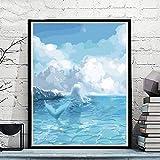 zlhcich Pintura dinámica Pintura al óleo Paisaje GX2374 40 * 50 cm con Marco