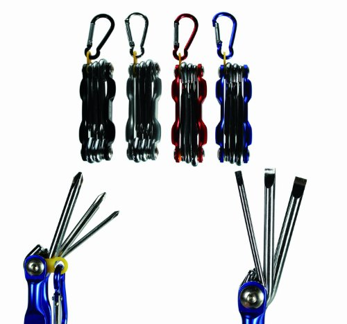Kenzies Gifts Black Foldable Cross Head Screwdriver Tool with Belt Clip - Mens, Mans, Gents, His, Him Great Present, Gift Idea For Birthday, Christmas, Xmas