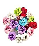 #5: 12 Pc Multi Color Velvet Rose Flower Juda/Hair / Bun Pin Hair Accessories