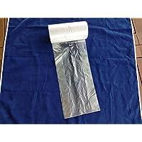 (lote de 2000) HDPE 18x 4x 35cm, App. 26x 35cm, contador bolsas en rollo de polietileno, Polietileno de alta densidad bolsas de plástico alimentos embalaje paquete para cortar panadería tienda eliminación de residuos producto seguro