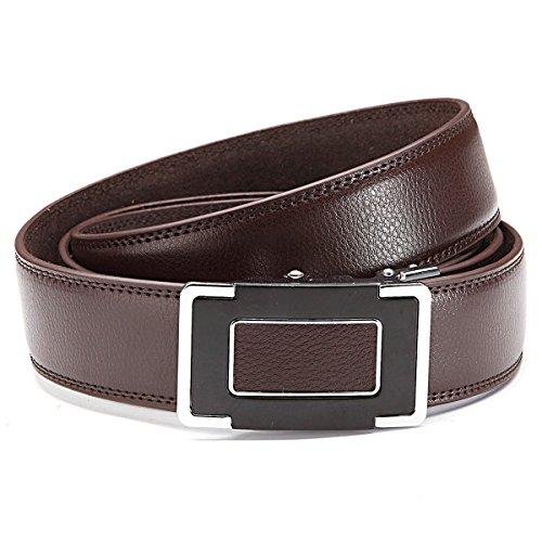 GIL-Design grille automatique 6013-2 ceinture en cuir marron - Marron - 105 cm