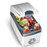 Car Refrigerator PHTW Doppelkern Auto Kühlschrank Mini Kleiner Kühlschrank Klein Gekühlt Heizung Auto Haushalt Schlafsaal Camping Student Gemüse Frucht Behälter 72W, 20L