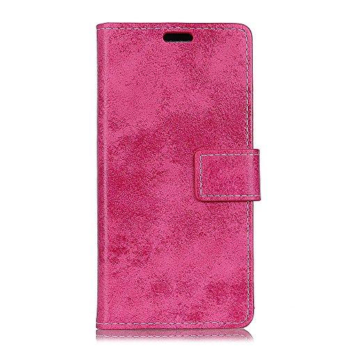 jbTec® Flip Case Handy-Hülle #M36 Vintage Style zu HTC U-Serie - Tasche Book Cover Etui Schutz Wallet Schutz-Hülle, Farbe:Pink, Modell:HTC U12 Life