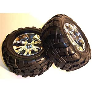 Bs908-002 1/10 Scale Off Road Wheels Pneus Rc Nitro Monster Truck X 4