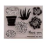 Yyooo Silikon-Siegelstempel für DIY Album, Scrapbooking, Fotokarten, Buch, Wandfenster, Dekoration, 1 Stück
