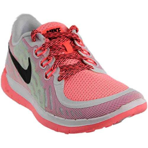 Nike Jugend des Mädchens Free 5.0 Laufschuh, wei� / schwarz / pink Lava, 7 (Schuhe Jugend-nike)