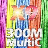 HATCHMATIC JOSBY Angelschnur 100m 300m 500m 9 Strands8 Stränge 4 Stränge Mehrfarben PE Flechtlitzen Multifilament 4 Farbe 22lbs-100kg: X9-300M-MultiC, 6,0