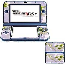 Flores 10022, Flor Blanca, Pegatina de piel cubierta de vinilo con laminado efecto de cuero y diseño colorido para New Nintendo 3DS XL Sticker