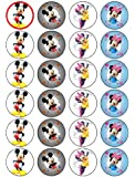 24 Mickey and Minnie Mouse Kuchendeckel