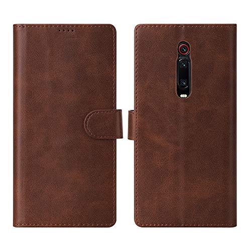 CRESEE Cover Xiaomi Mi 9T, Custodia Flip Case Folio Pelle [3 Slot Carte] [Chiusura Magnetica] [Funzione Stand] Portafoglio Cover per Mi 9T (Marrone)