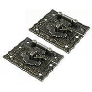SODIAL(R)2 Stueck 42 x 51 mm Antike Art Bronze Hardware Metall Rechteckige Schnalle Sperre