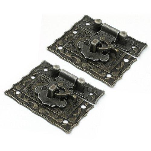TOOGOO(R)2 Stueck 42 x 51 mm Antike Art Bronze Hardware Metall Rechteckige Schnalle Sperre