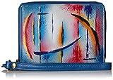 Anuschka Handgemalte Luxus-Leder RFID BLOCKING ZIP-Around ORGANIZER clutch Brieftasche (Northern...