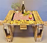 Tisch aus Palette beflammt vintage Couchtisch industrial Holz Shabby Chic Palettentisch Wohnzimmer Holztisch antik Palettenmöbel Wohnzimmer