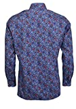 Olymp Luxor modern fit Hemd Langarm New Kent Kragen Muster blau Größe 48