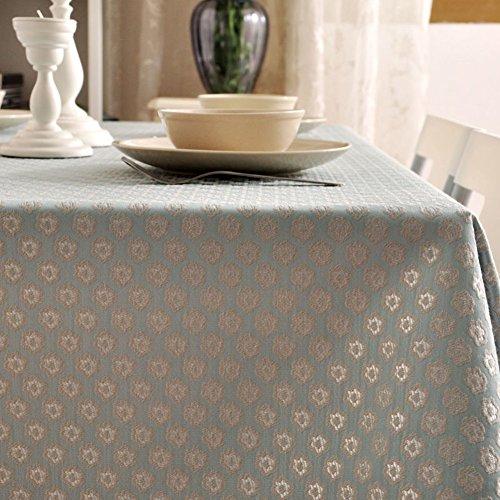 Maoge tovaglia per la casa tovaglia vintage tovaglia deluxe.tessuto cotone lino tabella di tè jacquard classico panno di tabella oblunga-vari stili.-a 140x250cm(55x98inch)