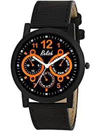Relish RE-S8130BB Black Slim Analog Watches For Men's And Boy's
