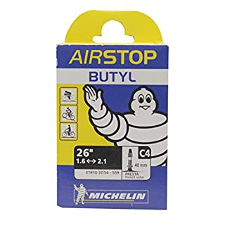 Michelin Airstop 1.45 Butyl PV Tube - Black, 40 mm