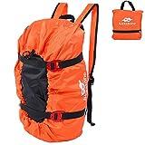 VGEBY Kletter-Rucksack, faltbar, Seil mit Kordel, für Outdoor-Aktivitäten, Camping, Wandern, Orange