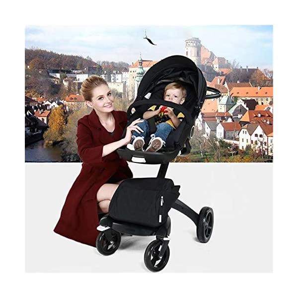 BABIFIS 75cm High Landscape Stroller Hand Can Sit Reclining Folding Shock Absorber Baby Stroller I BABIFIS 75CM high landscape, two-way adjustment, SUV-level suspension, multi-turn adjustment, away from the car exhaust, breathing fresh air Height-adjustable, no need to change chairs, and easy to eat in parallel with most dining tables As a two-way adjustment, two orientations towards three seats, two-way implementation,Sleeping basket can be carried independently, 0-6 months baby's comfortable cot 7