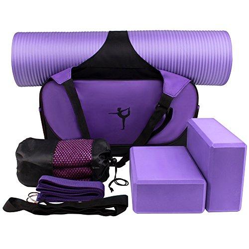 XGUO Kit de Yoga Accesorios para Yoga Juego Incluyen Estera...