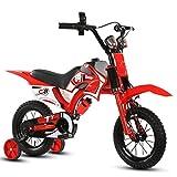 Jungen Kinder Fahrrad Motorrad-Stil Fahrrad Stahlrahmen rot und blau für 2-7 Jahre alte Kinder ( Farbe : Rot , größe : With NO basket-26