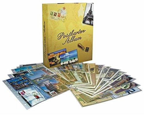 Postkartensammelalbum: Grundausstattung mit 20 Folienblättern für 80 oder 160 Postkarten.
